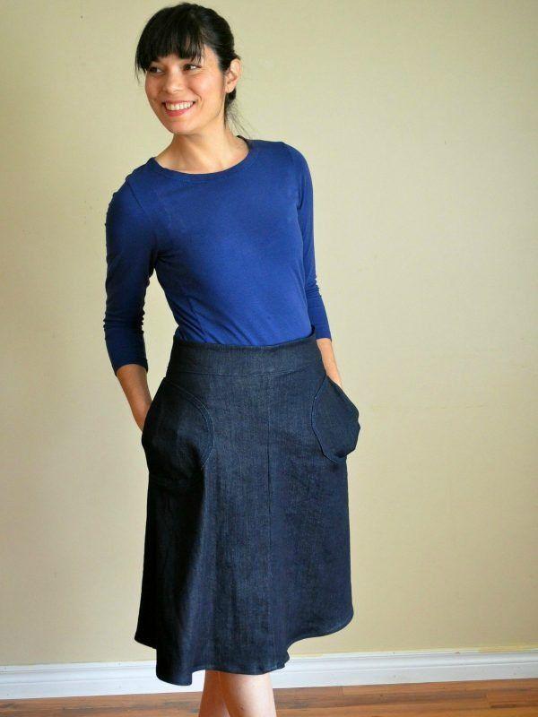 Easy A-line Skirt Tutorial | Nähen - Tipps, Tricks, Anleitungen ...