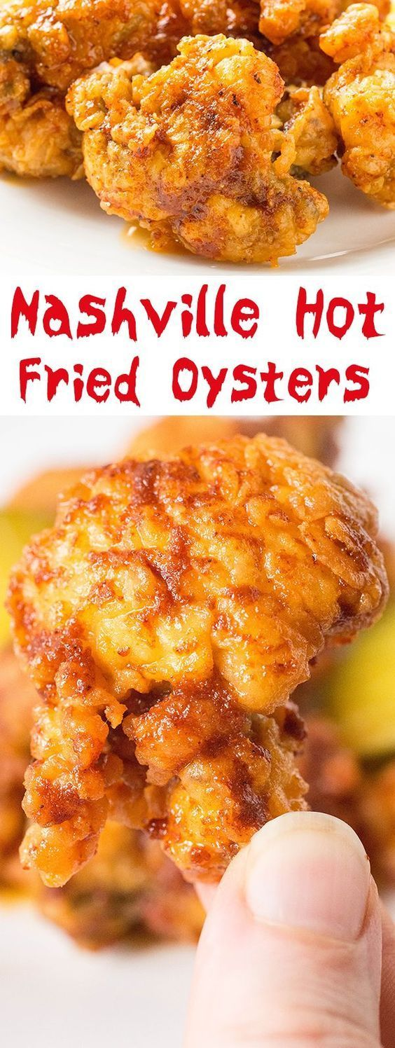 Nashville Hot Fried Oysters Recipe Recipe Fried Oysters Oyster Recipes Seafood Recipes