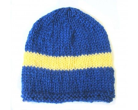 KSS Blue Beanie with Swedish Colors 13-15 inch (3-9 Months)