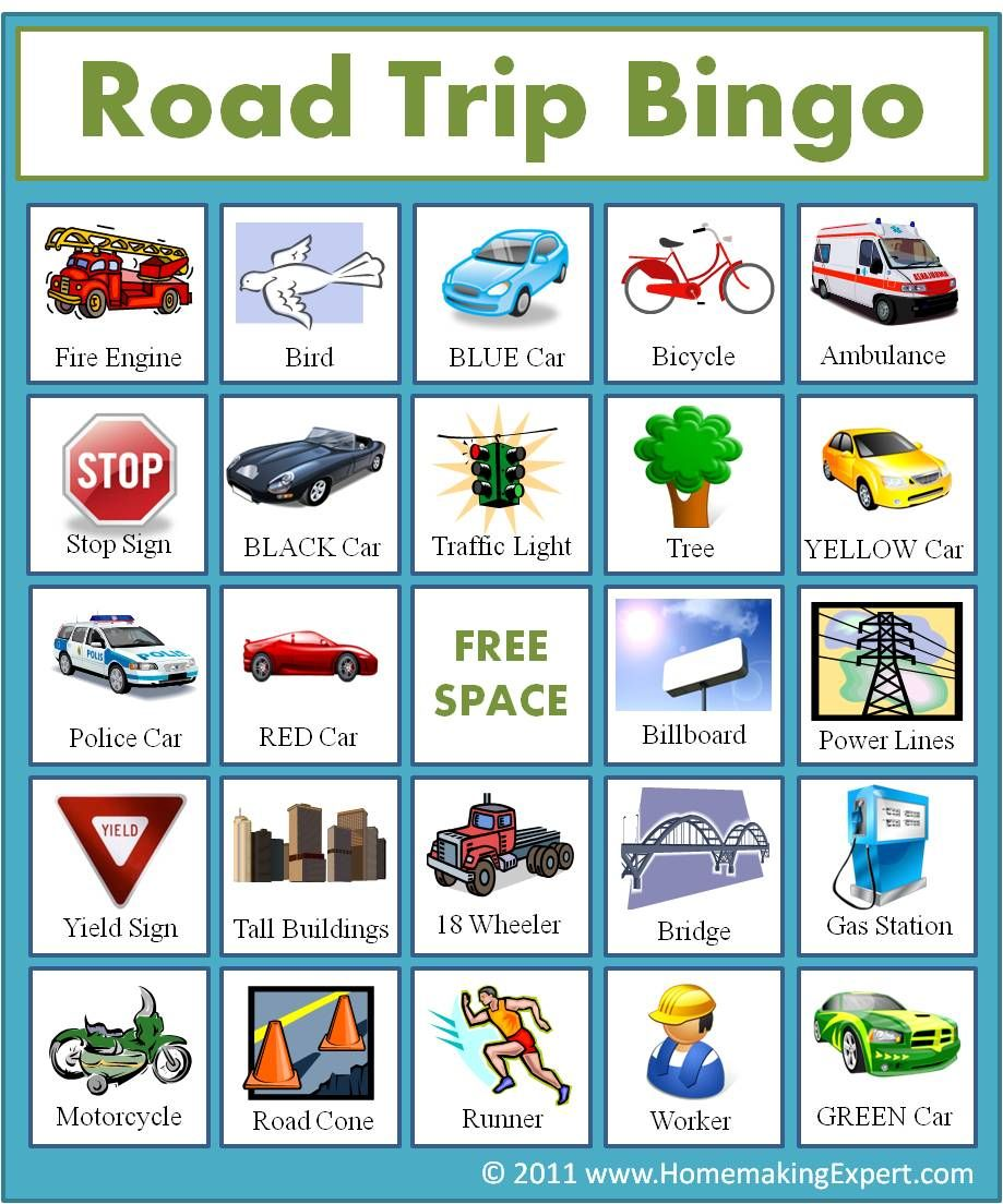 doing this for our trip to texas and back free road trip bingo