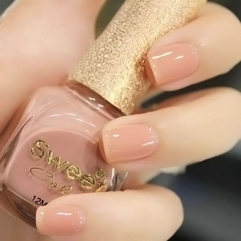 nail polish Sweet color eco-friendly oil nude painting pink nail ...