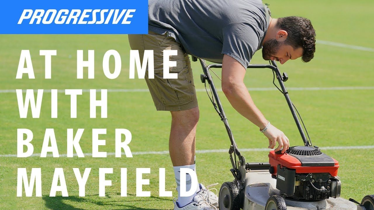 Baker mows his lawn. in 2020 Mowing, Commercial