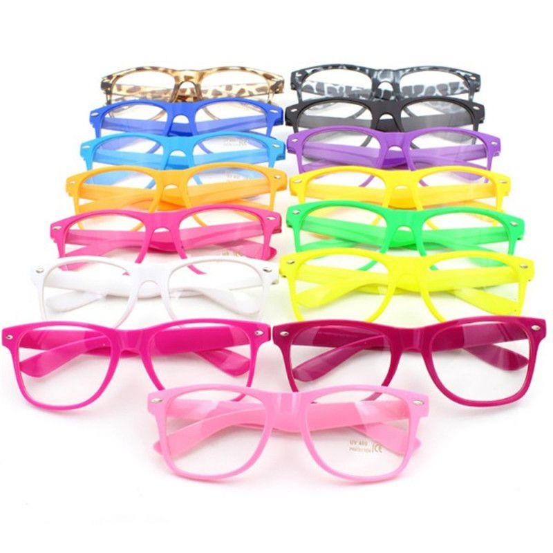 Marcos de gafas de Lente Transparente Gafas Nerd Marco Cuadrado ...