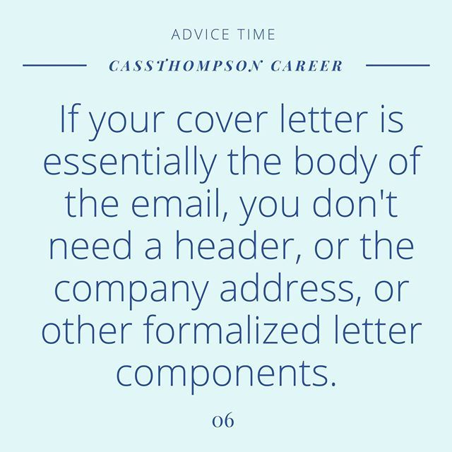 This one kills me. If you are emailing someone your resume directly ...