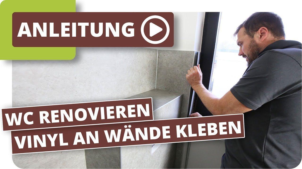Gaste Wc Neu Gestalten Vinylboden An Wande Kleben Vinylboden Wc Renovieren Gaste Wc