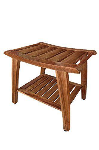 Teak Shower Bench All Teak Wood *** For more information, visit ...