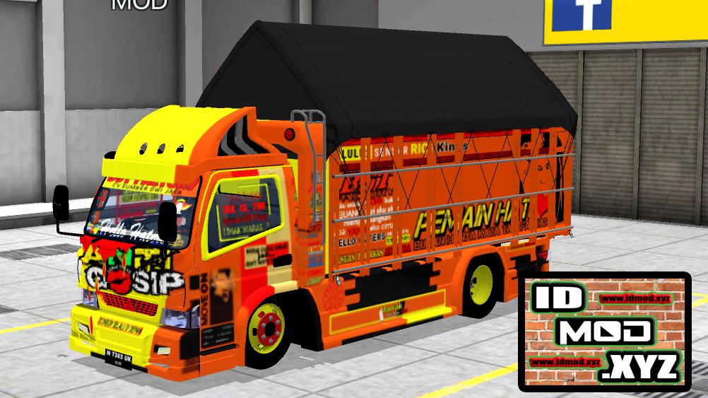 Mod Bussid Truck Canter Fe74hd Terpal Gayor Truk Besar Terpal Mobil Keren
