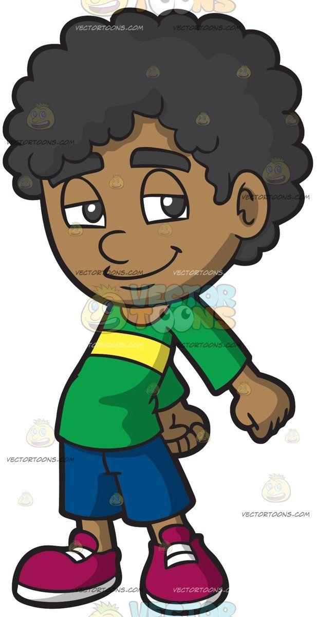 A Young Boy Doing The Floss Dance Boys With Curly Hair Black Hair Boy Boy Illustration
