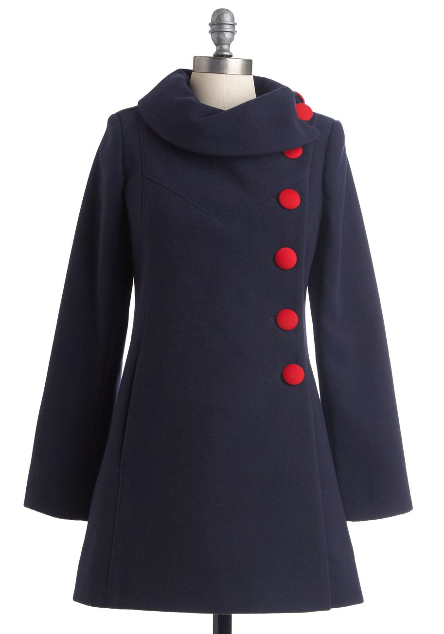 cute and cozy navy coat