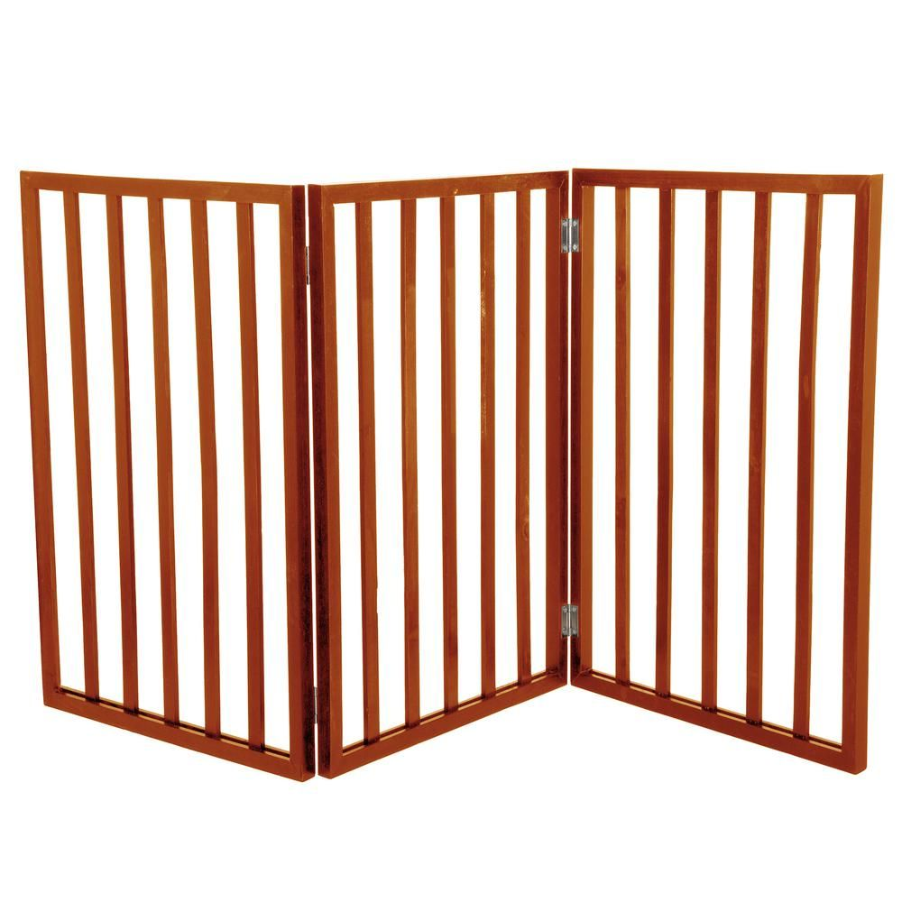 Petmaker Free Standing Mahogany Wooden Pet Gate Pet Gate Cat Gate Wooden Dog Gates