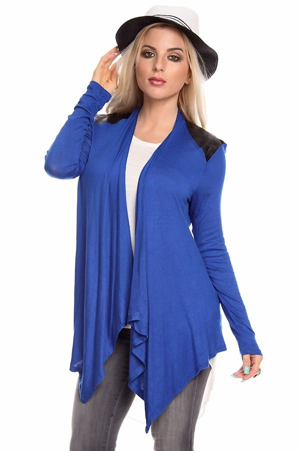ROYAL BLUE cardigan#wome cardigan#open front cardigan#casual ...