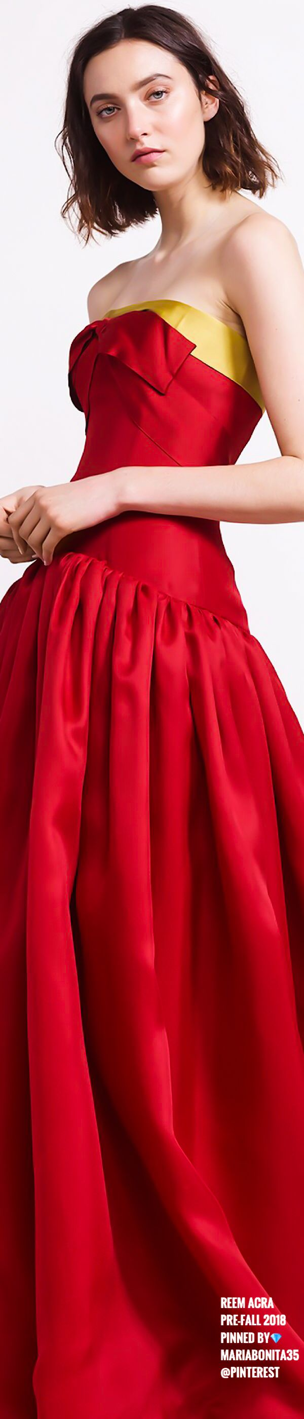 Reem Acra | Clothes | Pinterest | Fashion women, Red fashion and Gowns