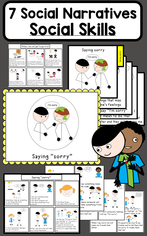 Social stories to teach social skills and social interactions #emotionalcontrol