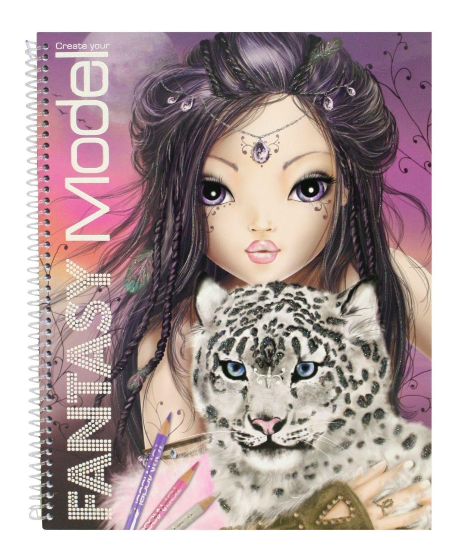 Depesche Topmodel Top Model Malbuch Tagebuch Sticker Fantasy große Auswahl NEU