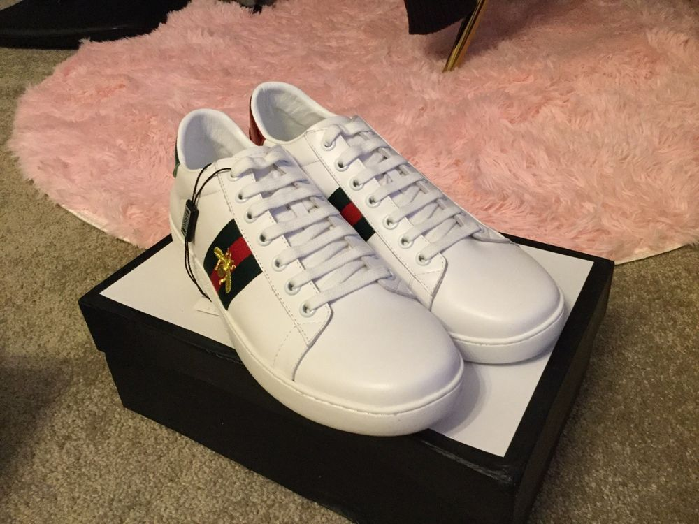 23ca8cbd4 Mens Gucci Ace Bee Embroidered Sneaker Size 43 (Fit 9.5 US) #fashion # clothing #shoes #accessories #mensshoes #casualshoes (ebay link)