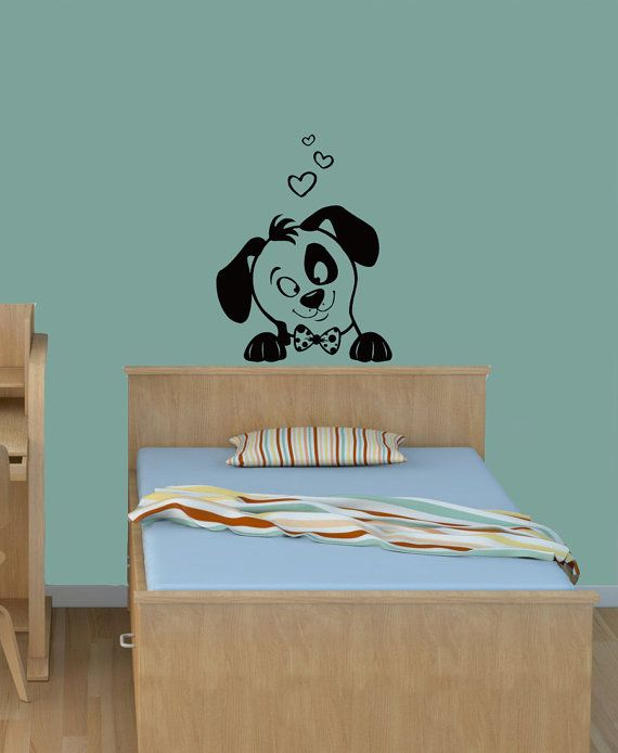Wall Decals Cartoon Dog Puppy Decal Vinyl Sticker Baby Children - Sporting wall decals