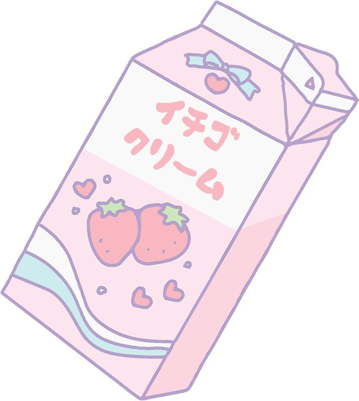 Image result for kawaii aesthetic strawberry milk
