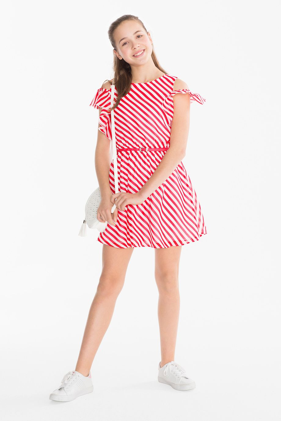 super cute 2ac53 0e11a Here and There Kleid mit Gürtel - gestreift | Move and Dance ...