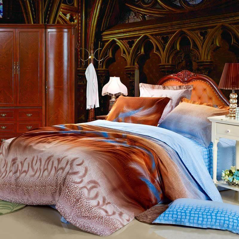 romantic orange bedding | ... Orange Cotton Bedding Sets ...