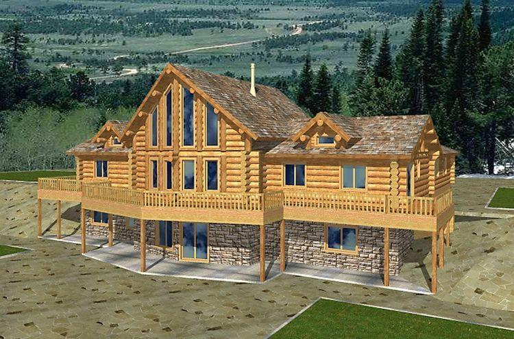 Hpm Home Plans Home Plan 001 1039 Log Cabin House Plans Cabin House Plans Log Home Plans