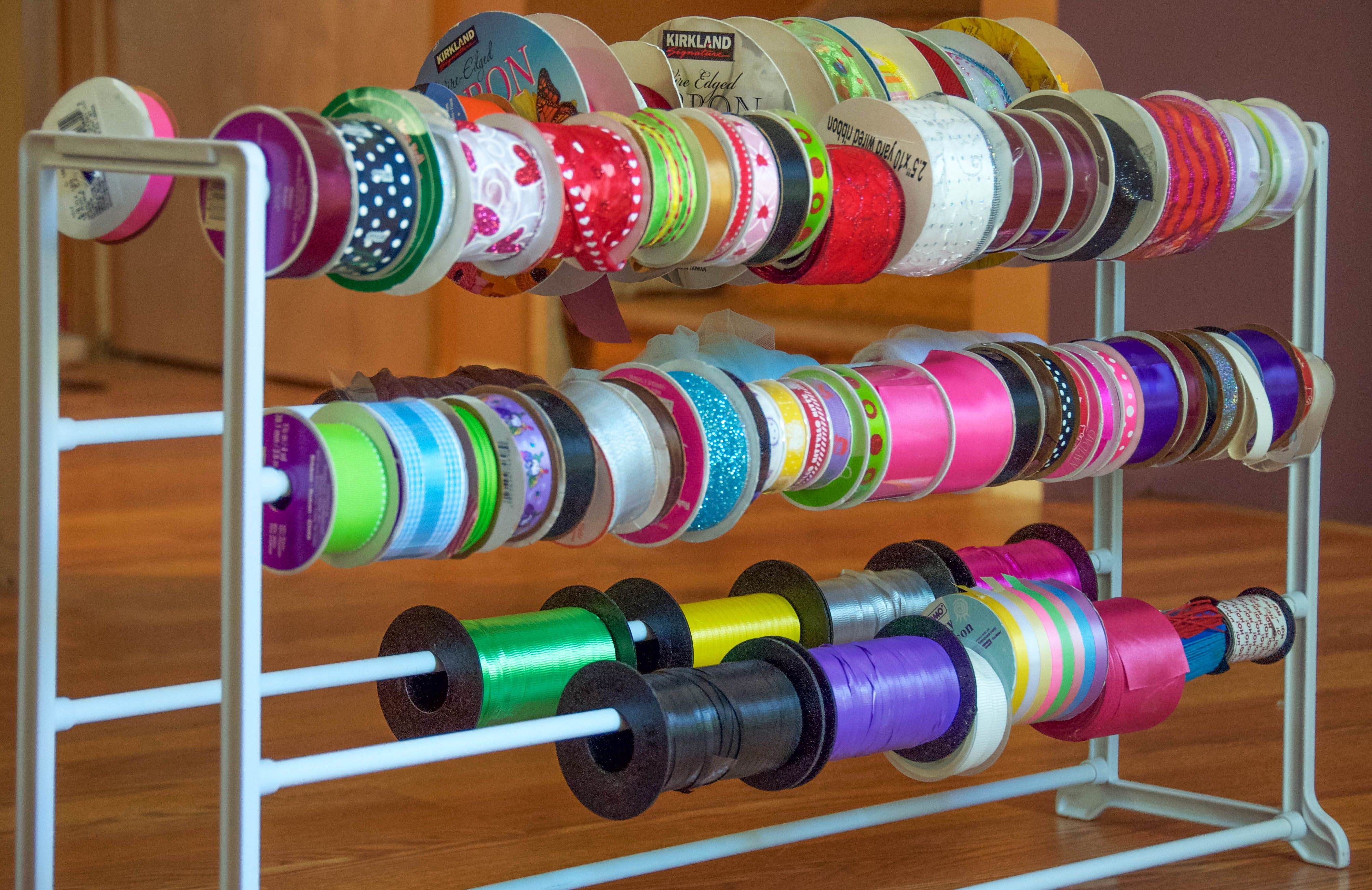How To Organize Ribbon A Simple Shoe Rack Makes An Excellent