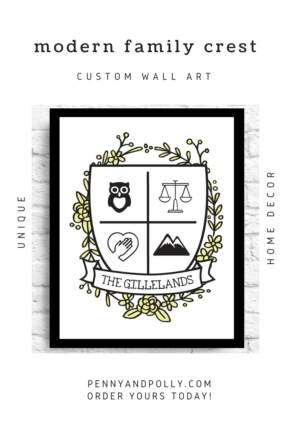 Modern Family Crest Choose Your Own Colors And Quote Personalized Family Poster Kids Names Anniversary Date Pennyandpolly In 2020 Family Crest Family Poster Modern Family