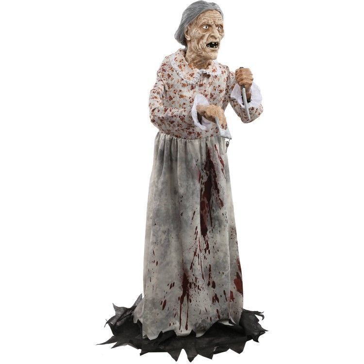 Life Size Halloween Props Bloody Granny Bates Halloween Party - life size halloween decorations