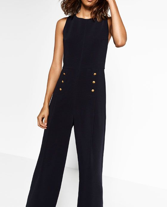Image 2 of GOLDEN BUTTON JUMPSUIT from Zara