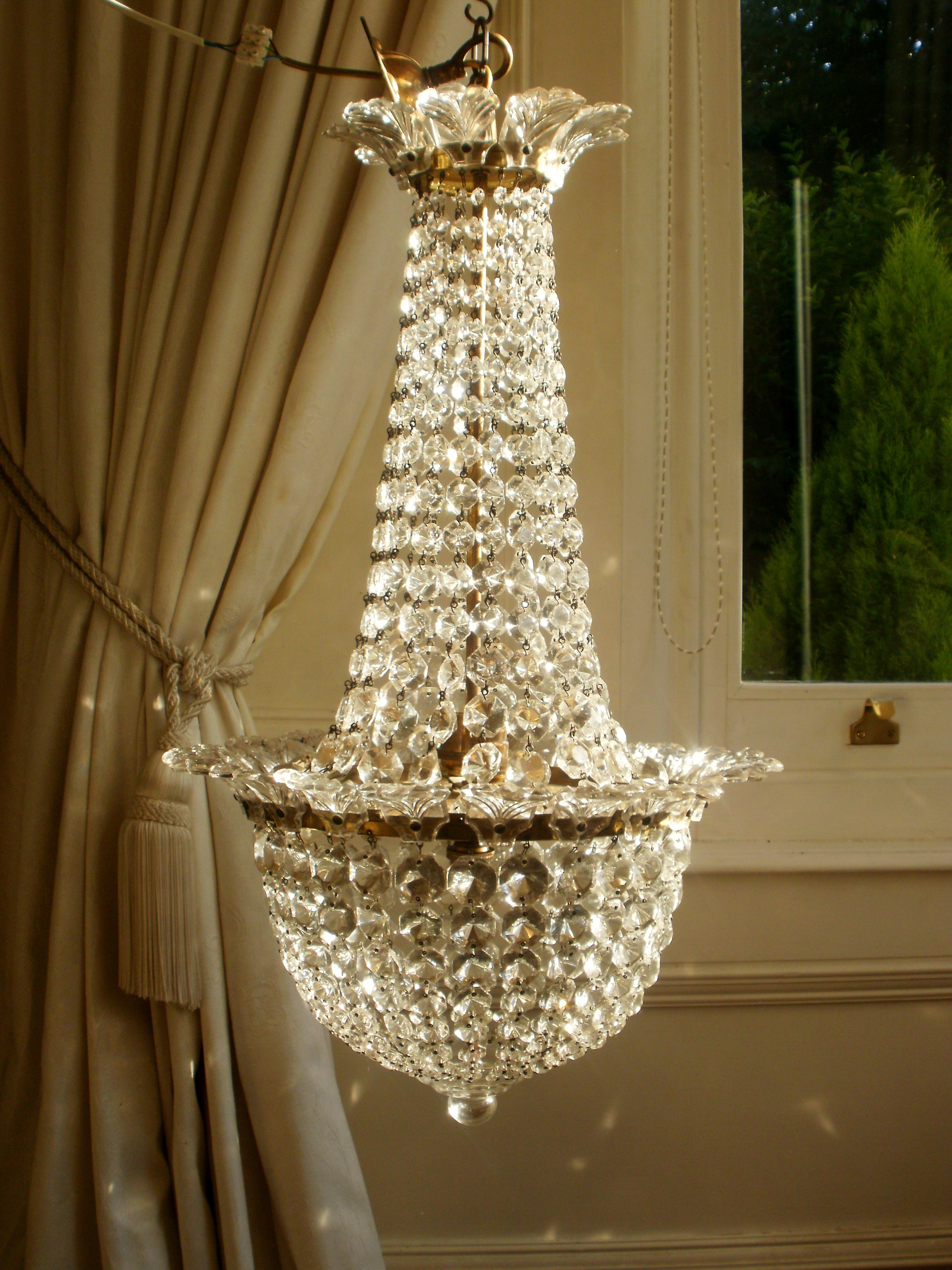 Vintage French Empire Crystal Chandelier Chandelier
