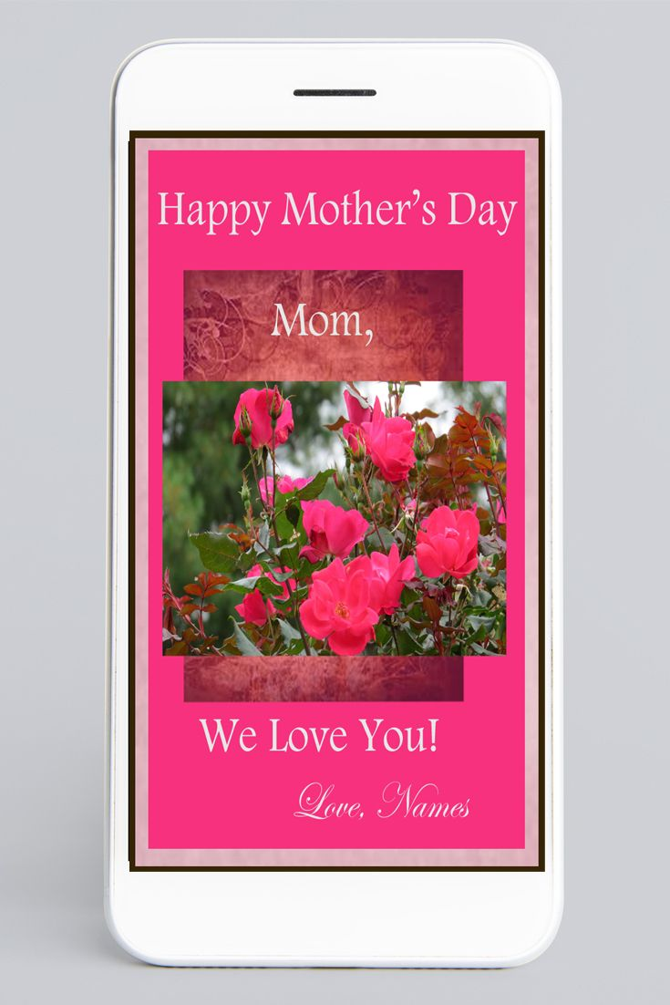 Mother S Day Card Lingering Roses In 2020 Happy Mothers Day