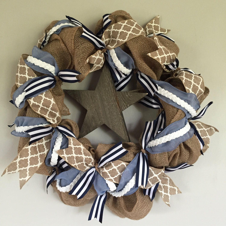 Nautical Wreath by CompassionWreaths on Etsy https://www.etsy.com/listing/276938224/nautical-wreath