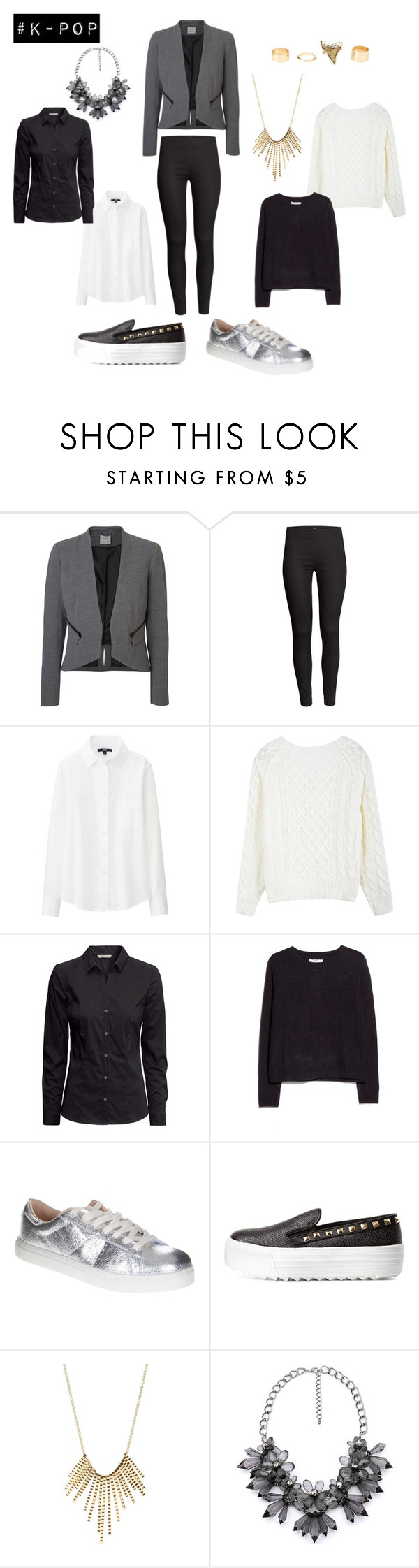 """""""Exo - Overdose"""" by carolinacoronac ❤ liked on Polyvore featuring H&M, Uniqlo, MANGO, M.N.G and Charlotte Russe"""