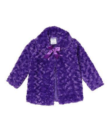 Purple Bow Jacket - Toddler & Girls #zulily #zulilyfinds