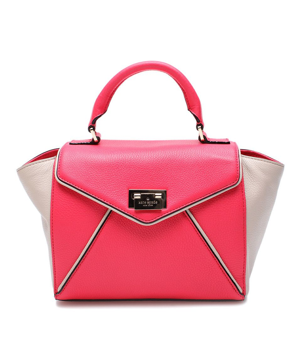 Kate Spade Desert Rose & Perfect Beige Wesley Place Leather Satchel by Kate Spade #zulily #zulilyfinds