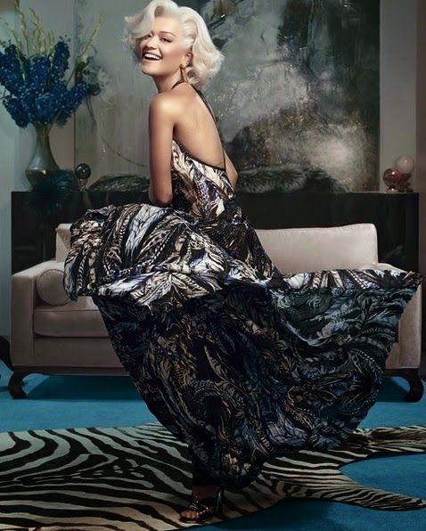 Hilary Blonde: Rita Ora posa al más puro  estilo Marilyn en la ul...
