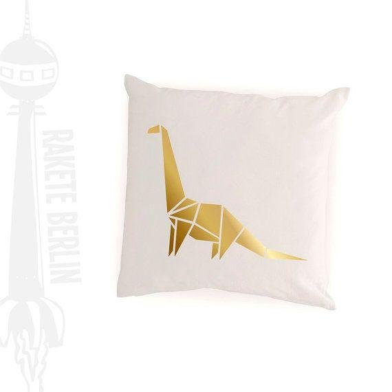 cushion cover  'Dino Brontosaurus Origami'