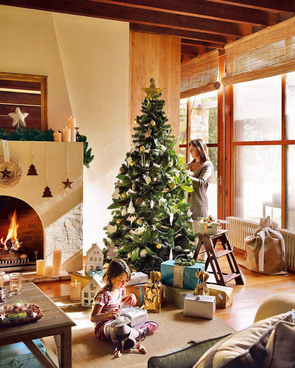 Navidad En Una Casa De Campo Elmueble Com Casas Christmas