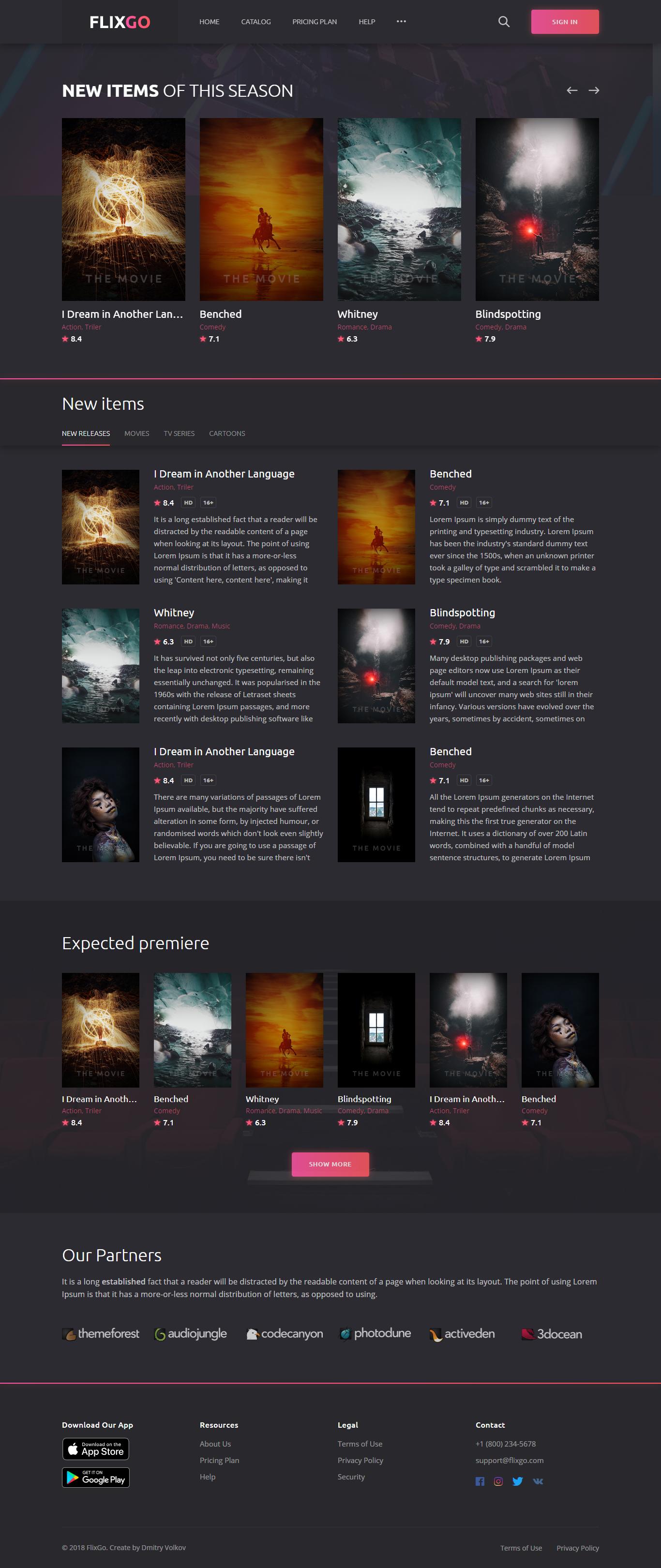 Flixgo Online Movies Tv Shows Cinema Html Template Movie Website Web Design Websites Reviews Template Instagram