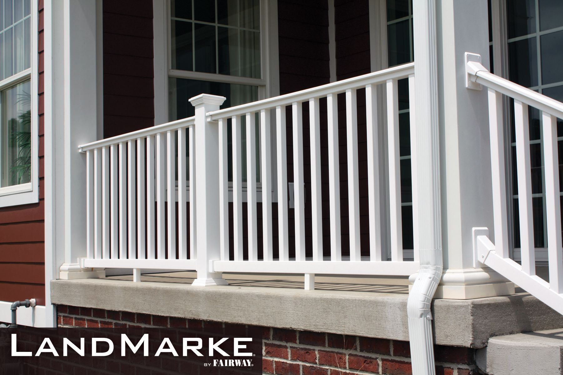 Porch and deck railing vinyl composite aluminum