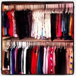 How To Organize Your Clothes Closet By Type And Color Step By Step  Instructions