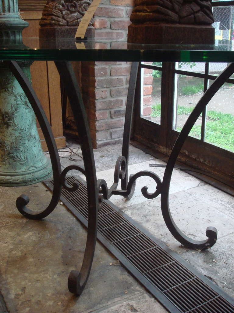 Round Wrought Iron Table Base