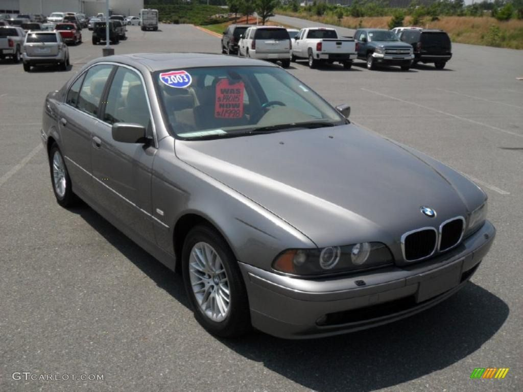 2003 bmw colors sterling grey metallic 2003 bmw 5 series 530i sedan exterior photo
