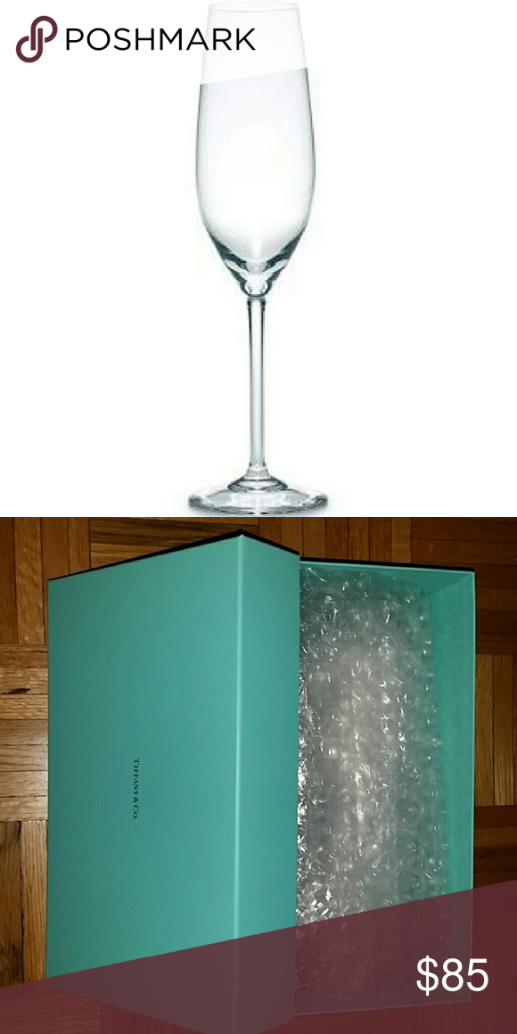 aeb92dcd92f4 Set of Two Champagne Flutes New in box and original packaging! Tiffany   Co.  Set of Two Champagne Flutes in Handblown Crystal Glass Tiffany   Co. Other