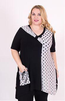043b7b355b40d Туники для полных женщин: купить женские туники больших размеров в интернет  магазине «L'