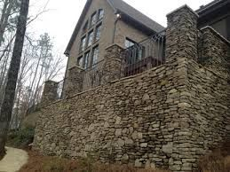 Image result for stacked stone patio