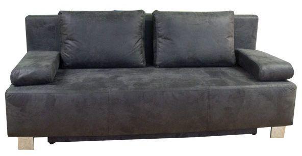 dieses schlafsofa ist das g nstige sofa f r g ste sofort lieferbar in grau melierten stoffen. Black Bedroom Furniture Sets. Home Design Ideas