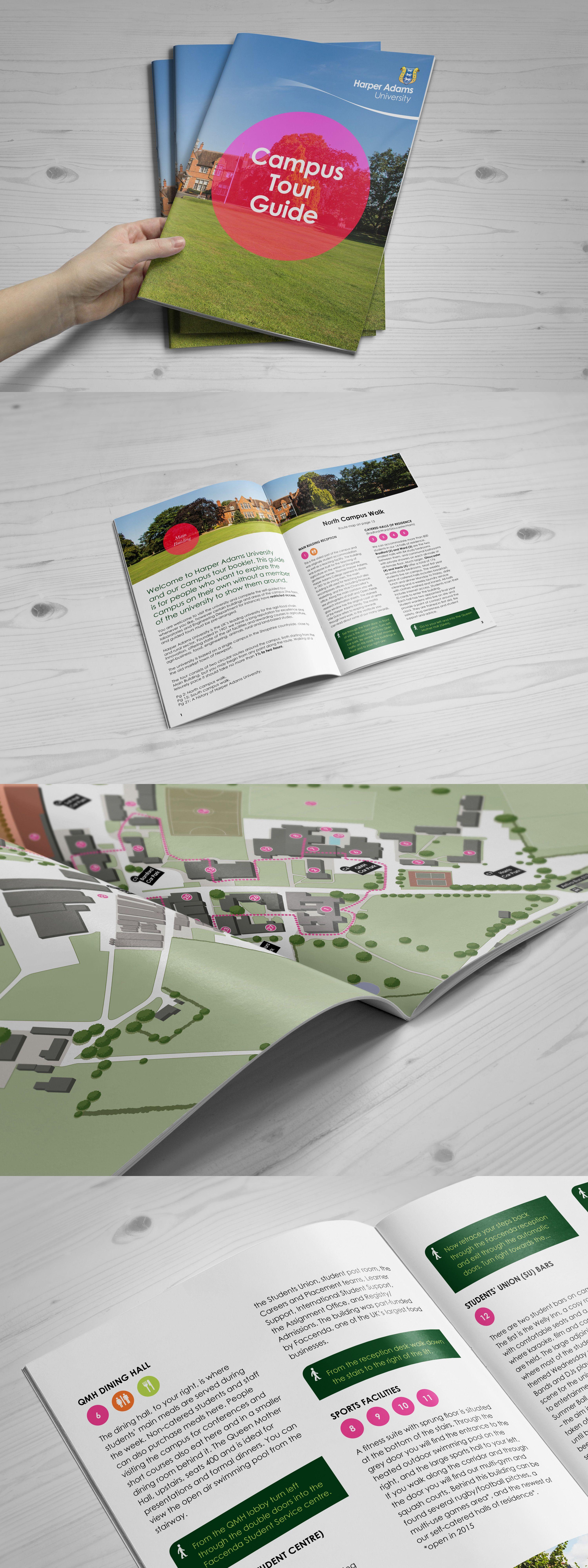 Harper Adams University Campus Tour Guide Mockup Tour Guide University Campus Photo Book