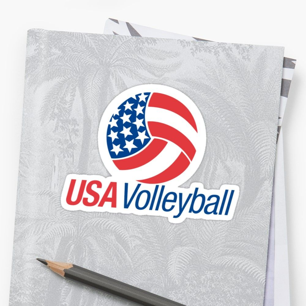 Usa Volleyball Sticker Usa Volleyball Volleyball Stickers