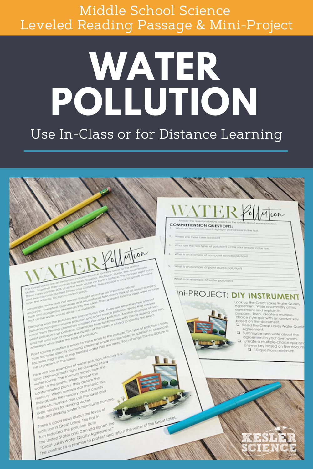 Science Reading Comprehension Water Pollution Distance Learning Science Reading Comprehension Science Reading Middle School Science [ 1500 x 1000 Pixel ]