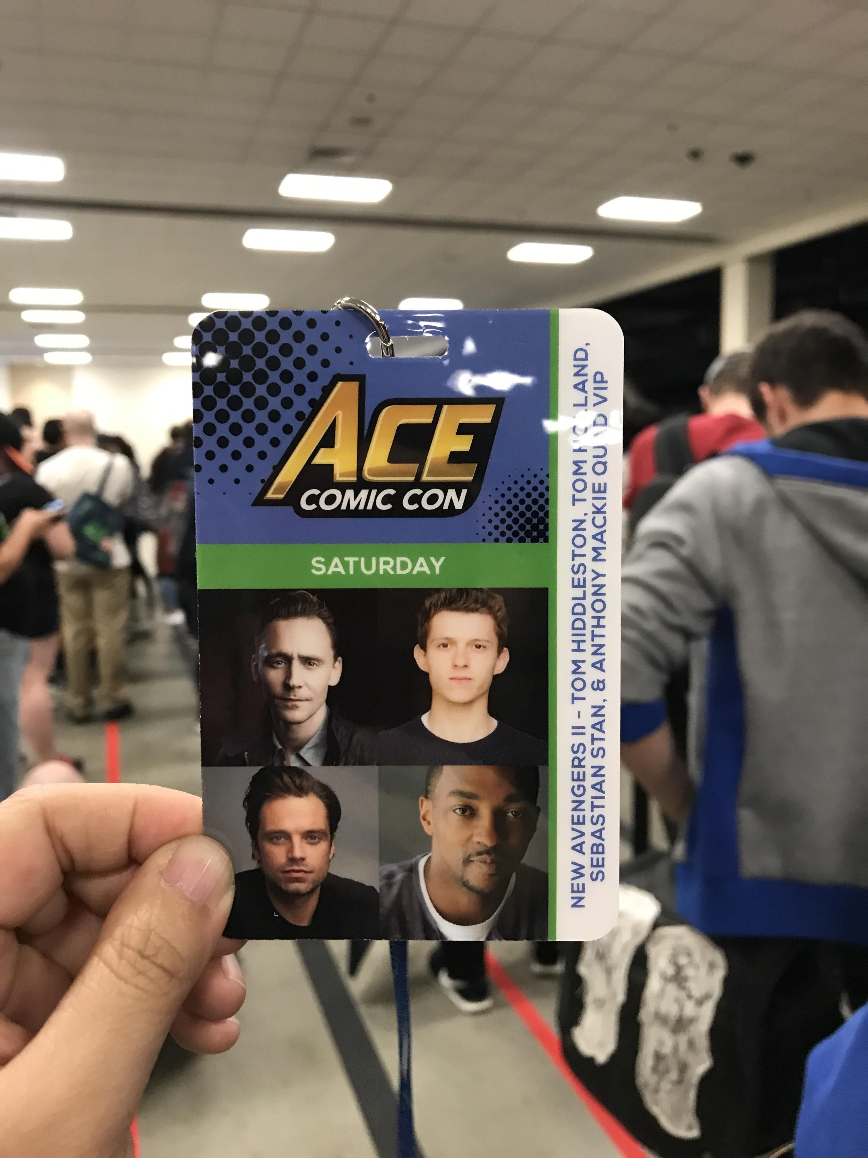 First Day At Ace Comic Con & I Cant Wait